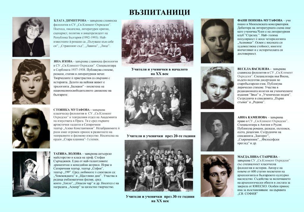 140 години 7. СУ – забележителната история на училището и приноса на изявените директори, учители и възпитаници в плакати